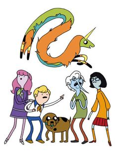 "Mashups That Prove ""Adventure Time"" Makes Everything Way More Awesome Adventure Time and Scooby Doo Mash-Up.Adventure Time and Scooby Doo Mash-Up. Adventure Time Crossover, Adventure Time Style, Marceline, Hanna Barbera, Aho Girl, Adveture Time, Land Of Ooo, Time Cartoon, Cartoon Fan"