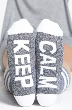 Arthur George by R. Kardashian 'Keep Calm' Socks, Do you have a friend who needs these? http://keep.com/arthur-george-by-r-kardashian-keep-calm-socks-no-by-thegooddistrict/k/2R19CigBNz/