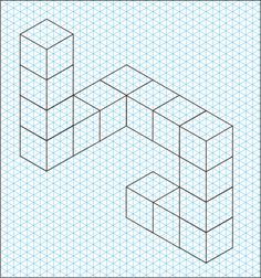 By V.Ryan Isometric Paper, Isometric Grid, Isometric Drawing, Graph Paper Drawings, Graph Paper Art, Kaleidoscope Quilt, Pattern Sketch, Technical Drawing, Drawing Techniques