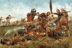 Save the Colors by Keith Rocco: The 5th NY Zouaves were nearly wiped out by the…