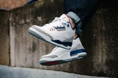 Nike Air Jordan 3 Retro (854262-106) OG Retro True Blue New Arrival 0fd9cd2b8