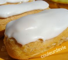 desserts – Page 20 – Couleurdevie White Fondant Recipe, Buttercream Fondant, Eclairs, Cookie Recipes, Dessert Recipes, Eclair Recipe, Choux Pastry, Apple Smoothies, Almond Cakes