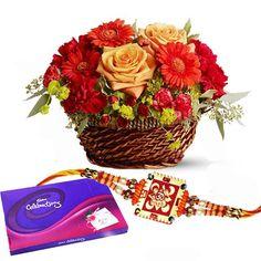Wish Happy Raksha Bandhan to your loveable brother by sending this lovely #Rakhi hamper. See more @ http://www.indiangiftscenter.com/rakhsha_bandhan.html
