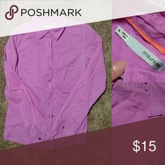 Purple button up Neon purple full button up blouse. Maurice's Tops Button Down Shirts