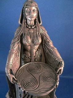 .The triple spiral; a representation of the three stges in a woman's life. (the maiden, the wife, and the crone)