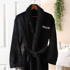 22648de68b Just For Him Embroidered Luxury Fleece Robe. Personalized Valentine s Day  GiftsCustomized GiftsMen s RobesChristmas ...