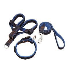 Lifeunion No-Pull Dog Leash Harness Callor Set,Adjustable Heavy Duty Denim 3 in 1 Set for Large/Medium/Small Pet Training and Everyday Walking *** Check this awesome image  : Dog Carriers and Travel Products
