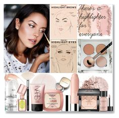 """""""There's a highlighter for everyone"""" by xenia-tsi ❤ liked on Polyvore featuring beauty, Clinique, Wander Beauty, Givenchy, Perricone MD, Dolce&Gabbana, L'Oréal Paris, NARS Cosmetics, ZOEVA and too cool for school"""