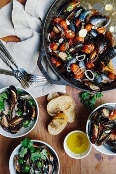How to cook mussels 2 ways via Waiting on Martha
