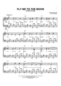 piano fly me to the moon sheet music - Google zoeken