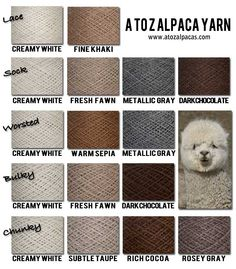 A to Z Alpacas is one of the greatest places to shop for amazing CANADIAN alpaca yarn! Great quality, affordable prices.. and we LOVE our alpacas :)
