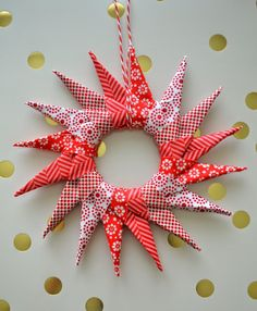 Origami Star Ornament Tutorial - UCreate  i would like in all white...or muslin...or....