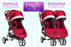 Comparing stroller options for Disney World trips from WDWPrepSchool.com - City Mini double stroller rental delivered to your hotel $25 for day one, $12 each day after