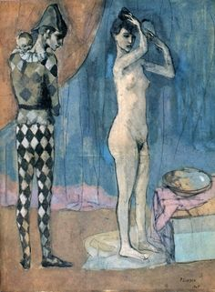 Pablo Picasso - 'The Harlequin's Family', 1905, gouache