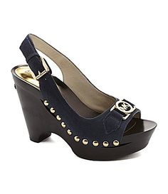 MICHAEL Michael Kors Charm Slingback Sandals - have these is the brown MK logo - lov them!
