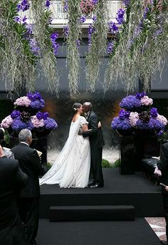 """A sweet """"bisou"""" during an intimate @Four Seasons Hotel George V Paris ceremony."""