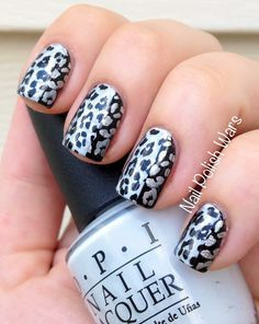 Leopard love with OPI polish. #nailart