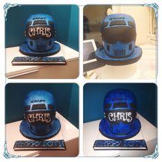 Helmet style cake