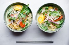 Spicy Thai Green Curry Ramen | 29 Delicious Asian-Inspired Soups