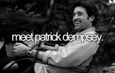only if he stays in character as dr. derek shepherd <3