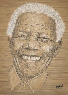 Nelson Mandela - pebé