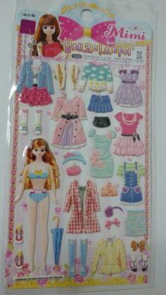 Dress-up-Mimi-princess-3D-DIY-Reusable-sticker-Stand-for-cute-girl-EL-4S-4185