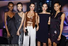ADRIANA  LIMA & MAYBELLINE MODELS, HEREITH PAUL,  EMILY DI DONATO  & OTHERS
