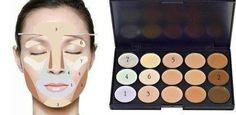 paleta corrector de maquillaje de 15 colores