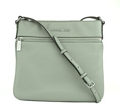 New Michael Kors Flat Crossbody Soft Venus Shiny Rhodium, Color Pearl Grey online. Find the  great WHITING