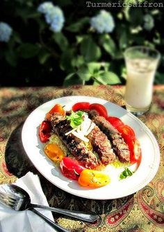 Turmeric & Saffron: Kabab Koobideh - Persian Grilled Ground Lamb On Skewers