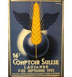 VAUD 16e Comptoir Suisse Lausanne 1935 par Pierre Kramer Lausanne, Vintage Posters, Tweety, Switzerland, Fictional Characters, Posters, Swiss Guard, Poster, Poster Vintage