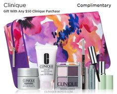 Spend $50 on Clinique to get this free Clinique gift from Saks fifth Avenue. http://cliniquebonus.org/clinique-bonus-time/