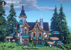 Minecraft Cottage, Cute Minecraft Houses, Minecraft Houses Survival, Minecraft Castle, Minecraft Plans, Amazing Minecraft, Minecraft House Designs, Minecraft Blueprints, Minecraft Creations