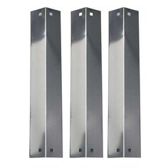 3 Pack Replacement Stainless Steel Heat Shield, Vaporizor Bar, and Flavorizer Bar for King Griller 3008 Chargriller Gas Grill Models 5252 Gas Grill Model.