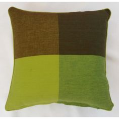 Green/Brown Reflection Cushion Cover (45cm x 45cm) - Mode Alive - Home Decor Heaven