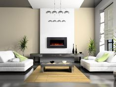 Contemporary Home Design, Electric Fireplace Design: Choosing One of The Best Styles of Modern Fireplace Fireplace Design, Fireplace Wall, Fireplace Ideas, Fireplace Suites, Mounted Fireplace, Fireplace Modern, Fireplace Heater, Ethanol Fireplace, White Fireplace