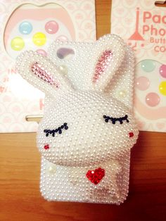 Iphone 4 & 4s bling cases big white rabbit shining case