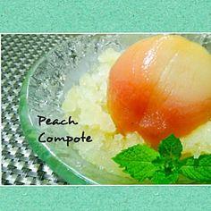 桃をたくさんいただきました 今日は贅沢なデザートです(*˘︶˘*).。.:*♡ 今度は桃祭り~ - 210件のもぐもぐ - 桃のコンポート 夏みかんみぞれ添え by miyukik710