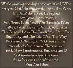 While praying one day....