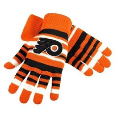 Philadelphia Flyers NHL Hockey Team Logo Stretch Gloves