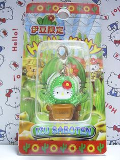 GOTOCHI HELLO KITTY Kawaii Charm Mascot Figure Cactus SHIZUOKA IZU Japan NEW *SOLD OUT!*