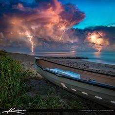 Lightning Storm Lifeguard Boat Palm Beach Island