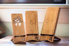 Wood iPhone Stand iPhone 5 6 6 Plus от ideasinwood на Etsy