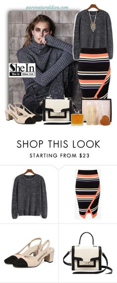 """""""Black Loose Knit Sweater"""" by purenaturaldiva ❤ liked on Polyvore featuring Ted Baker, Kate Spade, Lulu Frost, women's clothing, women's fashion, women, female, woman, misses and juniors"""
