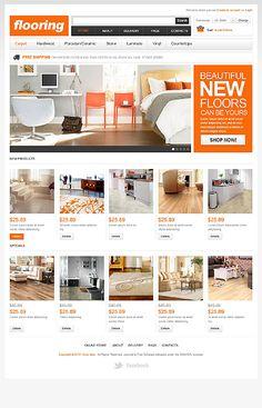 New Floors VirtueMart Template. Furniture Websites  ...