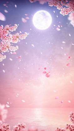 Sketches and Pictures Cherry tree aesthetic anime 35 ideas There Wallpaper Pastel, Scenery Wallpaper, Aesthetic Pastel Wallpaper, Kawaii Wallpaper, Cute Wallpaper Backgrounds, Pretty Wallpapers, Flower Wallpaper, Aesthetic Wallpapers, Pink Moon Wallpaper