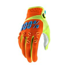 100% Men's Airmatic Gloves | Freestylecycling.com Bmx, Motocross, Mtb Gloves, Gears, Sneakers, Offroad, Orange, Fashion, Tennis