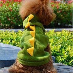 Aus der Kategorie Verkleidungen & Kostüme  gibt es, zum Preis von EUR 4,64  Eine schöne Kleidung, die Ihren Hund warm hält und ihn ausziehender und energischer aussehen macht. Mit dem Dinosaurier-Design sieht Ihr Haustier super süß aus!