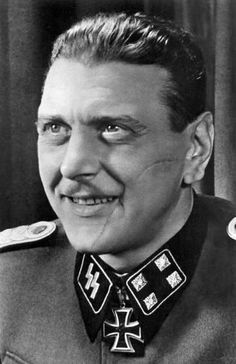 Otto Skorzeny (12 June 1908 – 5 July 1975) was an SS-Obersturmbannführer in the German Waffen-SS during World War II. After fighting on the Eastern Front, he was chosen as the field commander to carry out the rescue mission that freed Benito Mussolini from captivity. Skorzeny was also the leader of Operation Greif, in which German soldiers were to infiltrate through enemy lines, wearing Allied uniforms.