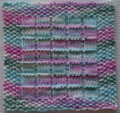 Sandra – making it with help: Windowpanes Knitted Dishcloth Pattern